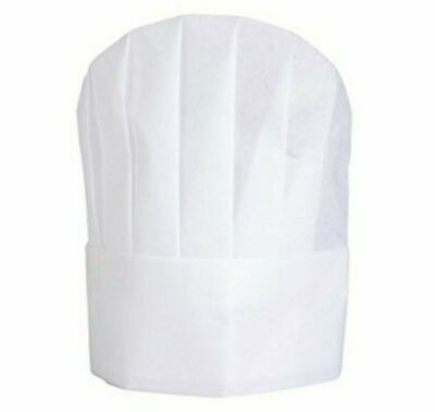 25 Pack Disposable Chef Hats, Hook and Loop Closure