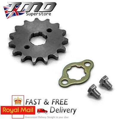 16 Tooth Front Sprocket And Bolts 17mm Spline Shaft 428 Pitch Pit Bike Pitbike