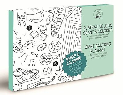 Omy Design And Play Giant Colouring Poster Free Pencils For Kids