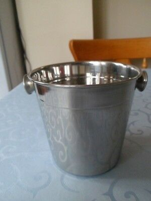 New Stainless Steel Ice Bucket / Wine Cooler with Stud Handles