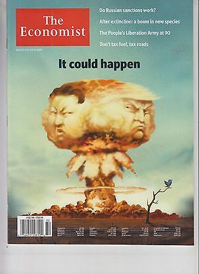 Donald Trump Kim Jong Un The Economist Magazine Aug 5 2017 No Label