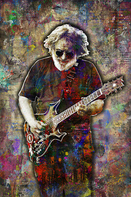 JERRY GARCIA Poster, GRATEFUL DEAD Jerry Garcia Pop Art with Free Shipping US