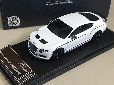 Almost Real 1/43 2015 Bentley Continental GT3-R - WHITE - ALM430401