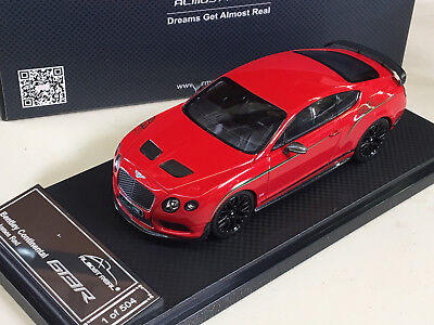 Almost Real 1/43 2015 Bentley Continental GT3-R RED - CHINA EDITION - ALM430402