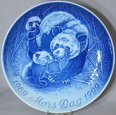 Bing & Grondahl 1999 Mother's Day Jubilee Plate B&G MIB Panda with Cubs