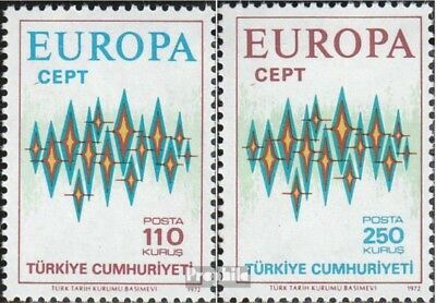 Turkey 2253-2254 (complete issue) unmounted mint / never hinged 1972 Europe