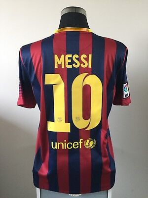 bd4cb7d60 LIONEL MESSI  10 Barcelona Away Football Shirt Jersey 2013 14 (S ...