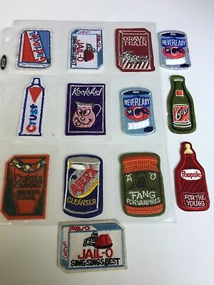 1974 Topps Wacky Packages Patches 13 Cloth Embroidered Beauties Just For You! :)