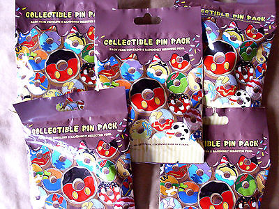 Disney * DONUTS * 5 PACKS * NEW 5-pin Collectible Mystery Pack Pins