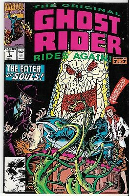 1991 Ghost Rider Issue #7 Marvel Comic Book Bag/board Vg-Mt Vintage Rare