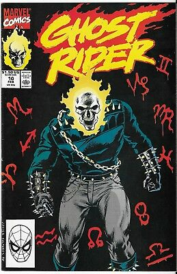 1990 Ghost Rider Issue #10 Marvel Comic Book Bag/board Vg-Mt Vintage Rare
