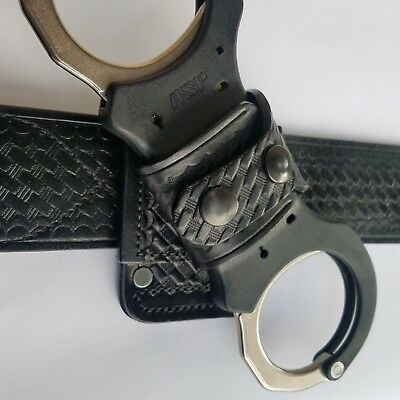 Basketweave Rigid Handcuffs Strap Holder, Fits 2-1/4 Duty Belt (For ASP)
