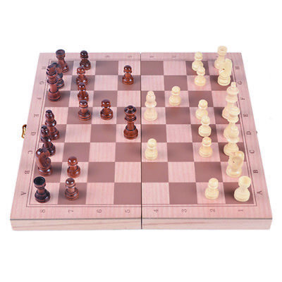 Intelligence Trainng Chinese Portable Wooden Chess Set Boys Girl Board Game
