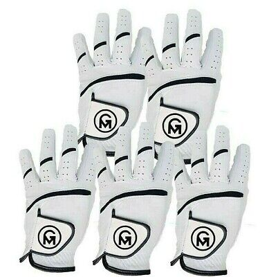 All weather Mens Golf Gloves Soft Cabretta Leather Discounted pack 6 Left hand