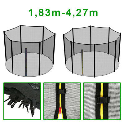 Trampoline Filet de sécurité 6/8 barres 1,83 2,44 3,05 3,66 3,97 4,27m FR