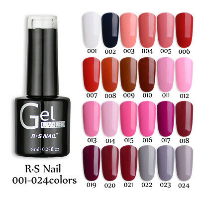 R.S Nail UV Gel Polish LED Varinish Soak Off One Step Gel No Need Base/Top Coat