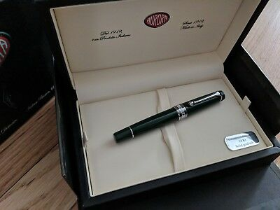 Aurora Optima Flex Green Fountain Pen Limited Edition Flexible Nib 2018