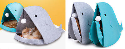 Shark Mouth Folding Pet Cat Dog Kitty Puppy House Kennel Bed Cushion 2 Colors