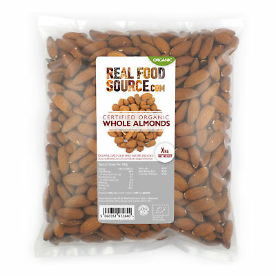 RealFoodSource - Organic Whole Natural Almonds Big Pack 5kg