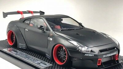 Liberty Walk LB Works Nissan R35 GT-R Matte-Black 1/24 PRO BUILT Plastic Car Kit