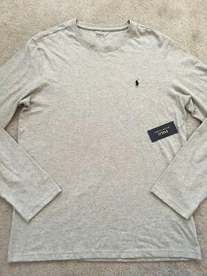 Polo Ralph Lauren Gents Designer Long Sleeved Top Bnwt Size Large 100% Genuine