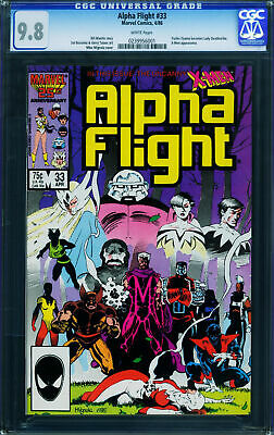 Alpha Flight #33-Cgc 9.8-1St Lady Deathstrike-1986-Copper Key 0239956001
