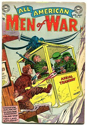 All American Men Of War #10 1954 DC COMICS NAZI BATTLE FN