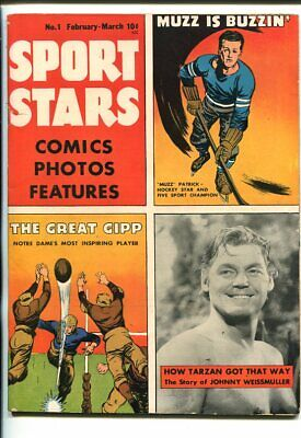 SPORT STARS #1-1946-WEISSMULLER-TATZAN-THE BABE-SOUTHERN STATES PEDIGREE-fn/vf