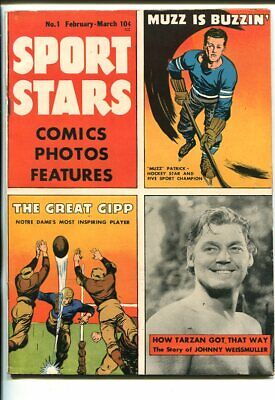 SPORT STARS #1-1946-WEISSMULLER-TATZAN-THE BABE-SOUTHERN STATES PEDIGREE-fn
