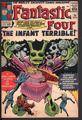 Fantastic Four #24-Great Cover-Silver Age-Jack Kirby ! High Grade