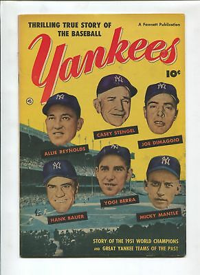 Thrilling True Story Of The Baseball Yankees 1952-Joe Dimaggio-Hank Bauer-Vf