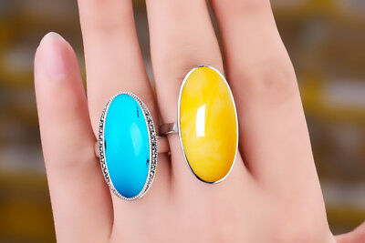 925 Sterling Silver Ring Blank/Base | Oval Shaped | 2 Size Choices