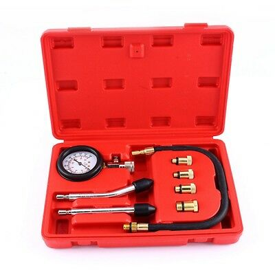 Automotive Motorcycles Petrol Engine Compression Test Gauge Tester Kit Tool P1A3