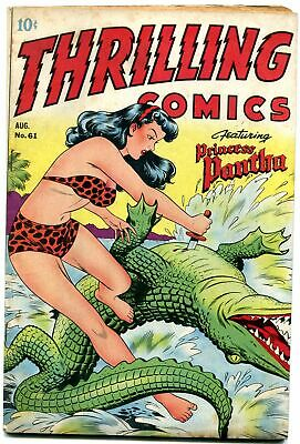 Thrilling Comics #61 1947- Princess Pantha crocodile cover- Doc Strange FN+
