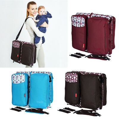 Folding Travel Crib Baby Diaper Mummy Bag Multi-Function Portable Cot Bed