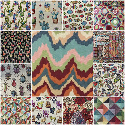COLOURED Tapestry New World Designer Fabric Ideal For Bags Upholstery Curtain