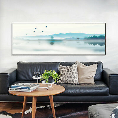 Abstract Ink Painting Landscape Nordic Art Silk Canvas Poster Unframed A208