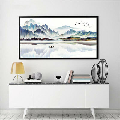 Abstract Ink Painting Landscape Nordic Art Silk Canvas Poster Unframed A210
