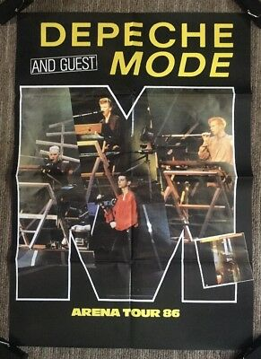 Depeche Mode & Guest Vintage Poster Arena Tour 86 Promo Music Ad Pin-up Retro
