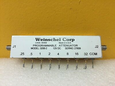 Weinschel 3200-2 DC to 2 GHz, 63.75 dB SMA (F) Programmable Attenuator. Tested!