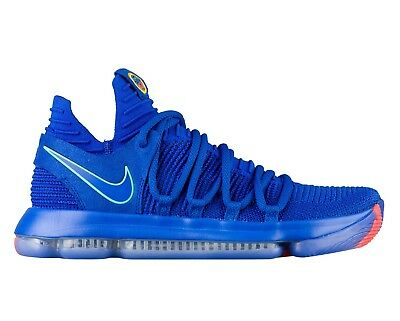 7fd39296bb6f Nike KD 10 X City Edition Mens 897815-402 Racer Blue Basketball Shoes Size  13