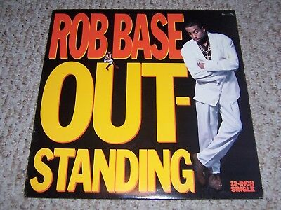 "Rob Base ""OUTSTANDING"" 1990 Profile 12"" Single (White Label Promo) PRO-7300  EX"