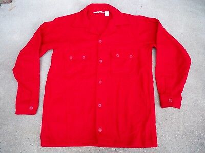RARE! Vintage Boy Scouts of America BSA Red Wool Shirt Official Jacket 44 Long