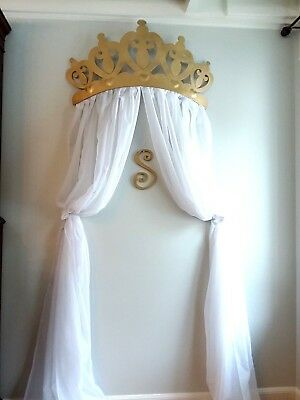 NEW *GOLD Metal CRIB CROWN CANOPY WALL DECOR NURSERY PRINCESS BABY SHOWER PARTY