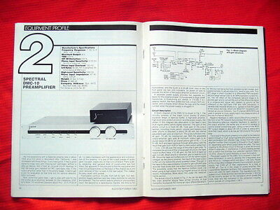 "Spectral DMC-10 preamplifier test review ""Audio"" magazine 9/83"
