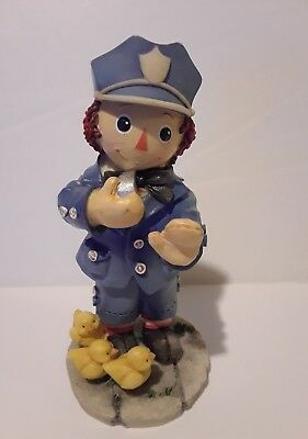 Simon Schuster Raggedy Andy Resin Figurine Enesco You Make The World Safe Police