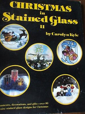 Christmas In Stained Glass Ii Patterns Book Over 80 Full-Size Patterns Santa Bel
