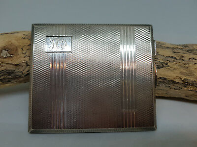 Used Antique Solid Silver Cigarette Card Holder Case 133.7 G.