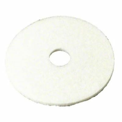 "3M 08488 24W 4100 White Super Polish Pad - 24"", 5/cs"