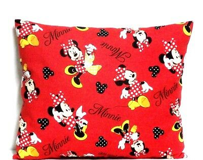 Minnie Mouse Toddler Pillow on Red Cotton M16-11 New Handmade